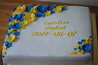 I går tog min kollegas dotter studenten, och jag gjorde hennes tårta. Jag hade fått se en bild på hur de ville att den skulle se ut, och de...