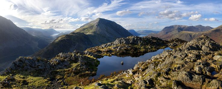 The view from the summit of Hay Stacks, The Lake District, Cumbria