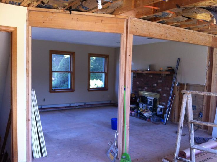 Removing load bearing walls the right way. - Imgur