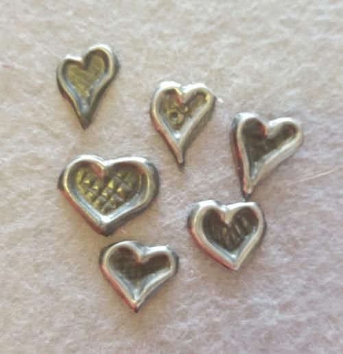 Buy Pewter Art Love hearts for Scrapbooking 6 in this order for R20.00