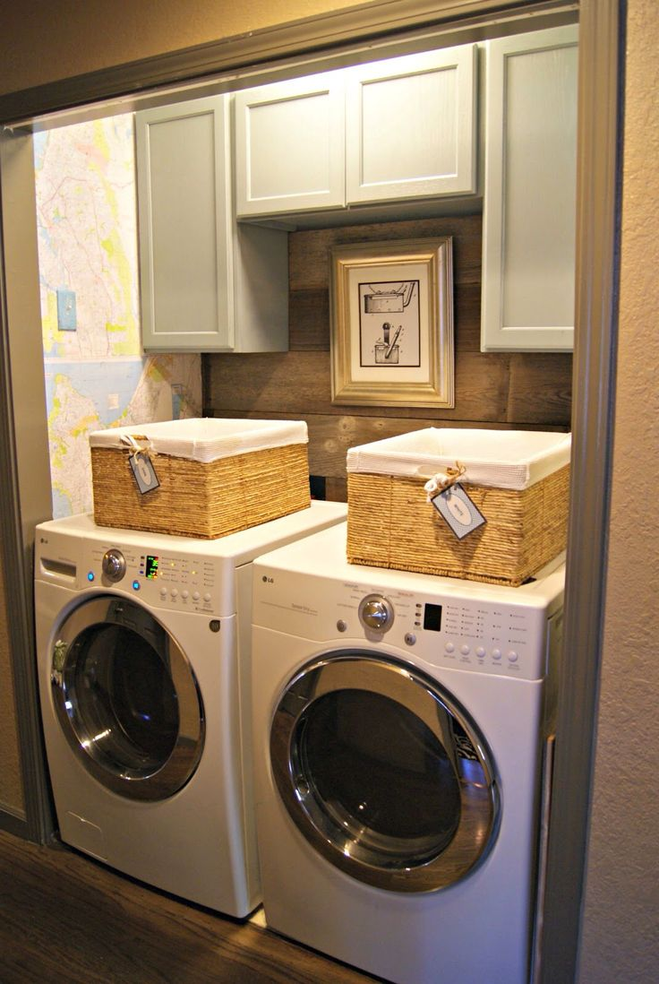 43 best laundry closet ideas images on pinterest home for Open laundry room ideas