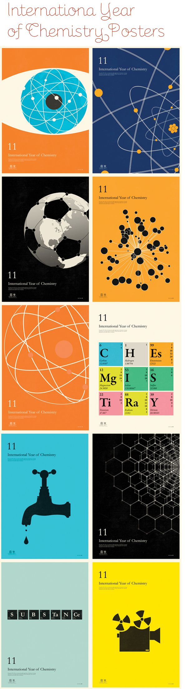 Very cool chemistry posters! Might inspire something in your classroom.