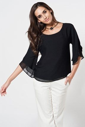 Milla by Trendyol - Yılbaşına Özel - Siyah Bluz MLWAW141325 %46 indirimle 64,99TL ile Trendyol da