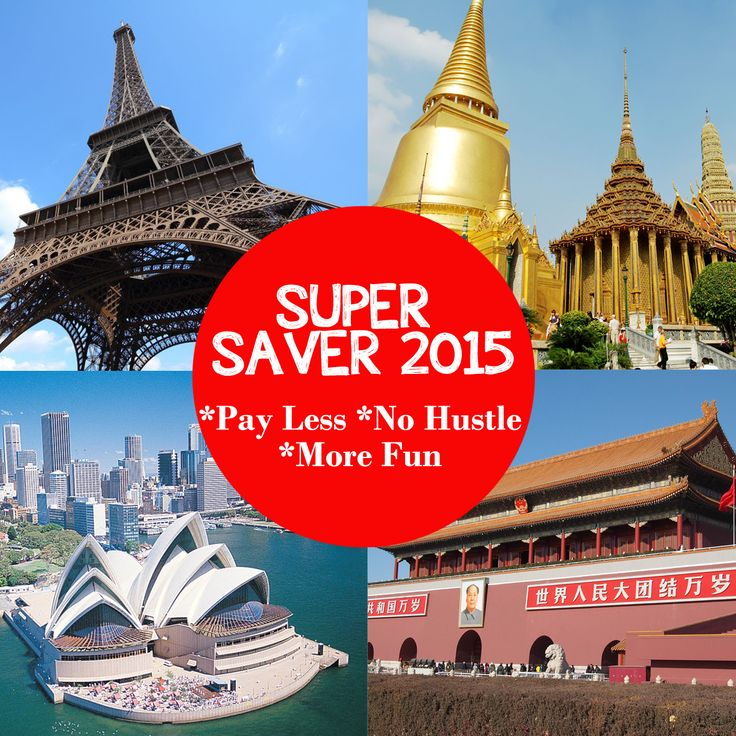 Super Saver Holidays 2015! pay Less, Travel More! Get best offer tour package to your favorite destinations!