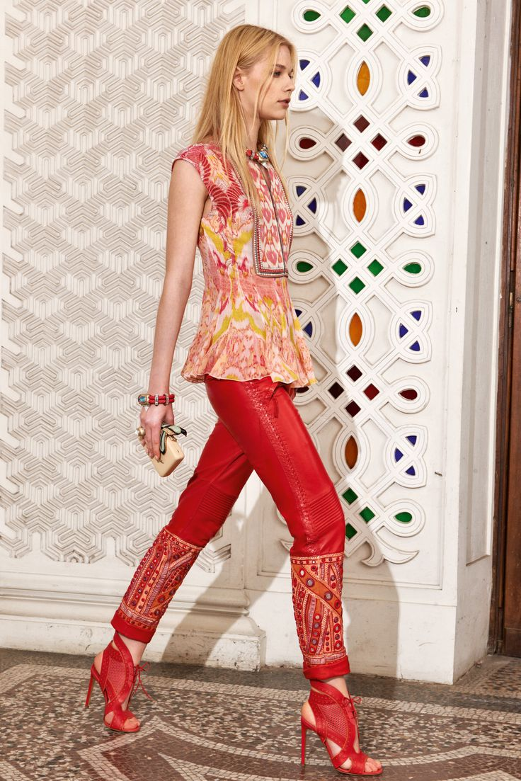 wedge sneakers payless price Roberto Cavalli Resort 2014   Collection   Gallery   Style com