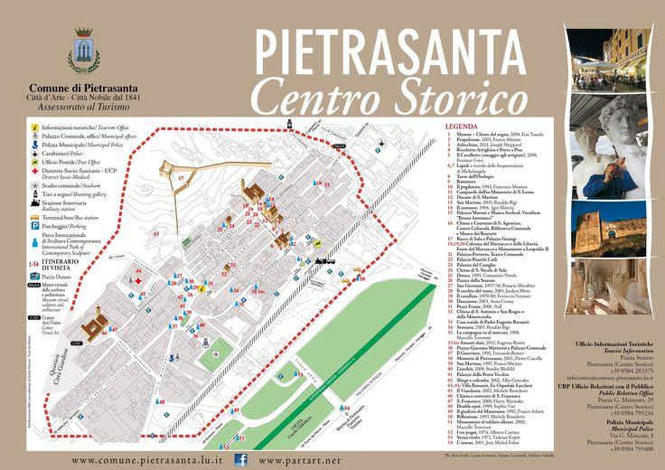 """Pietrasanta, centro storico. Progetto grafico di Silvia Baldi, ex allieva dell'Istituto d'arte """"S.Stagi."""
