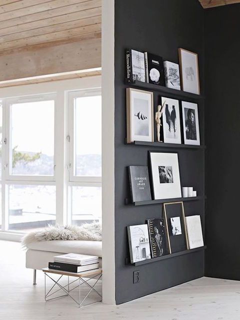 15 enviable black feature walls home living room decor rh pinterest com