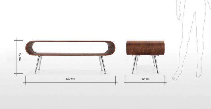 Hooper Couchtisch mit Ablage in Walnuss ► Entdecke moderne Designmöbel jetzt bei MADE.