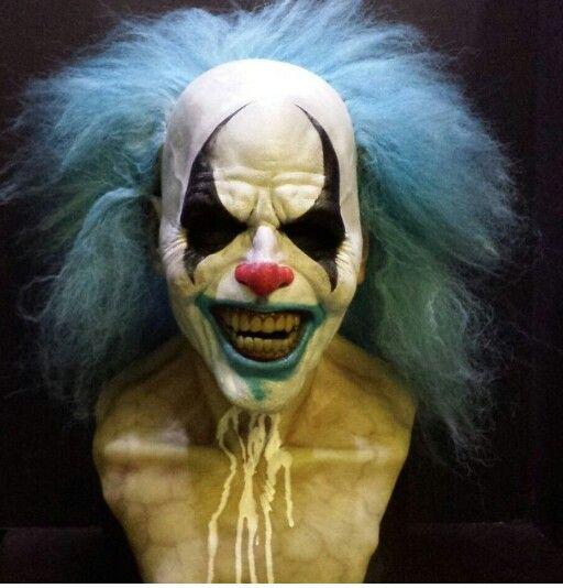 Blue Reverend Clown by Immortal Masks . On Instagram