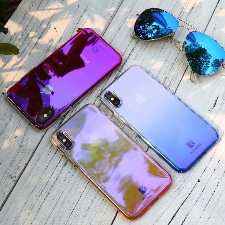FLOVEME Hülle Für iPhone X Luxury Case Gradient …