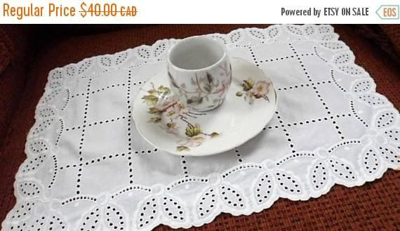 DISCOUNTED Vintage Pink n White Floral Porcelain Saucer and