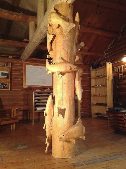 Trout totem for a bloke's Man Cave I say, particularly if he loves fishing or fish in general.