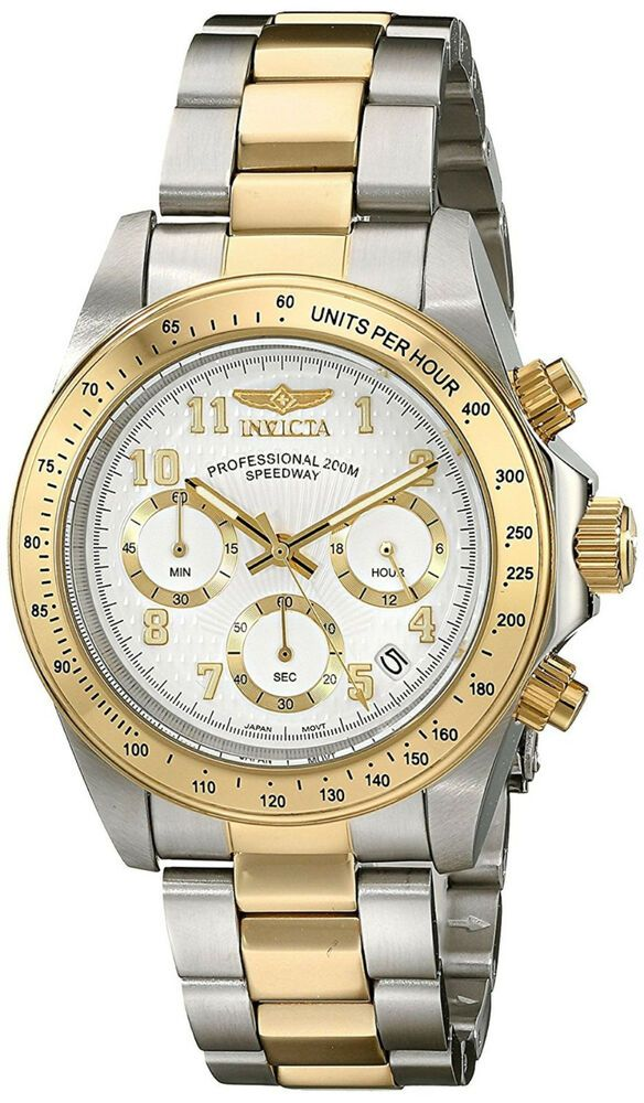 54eddd27f66f Reloj Invicta Hombre Plata Oro Crystal Gold Silver Man Watch Bracelet  Pulsera  Invicta  Casual