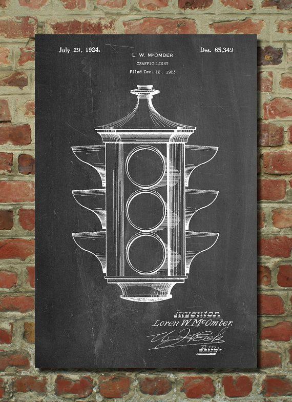 Traffic Light Poster, Traffic Light Patent, Traffic Light Print, Traffic Light Art, Traffic Light Decor, Traffic Light Wall Art