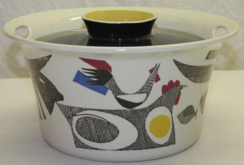 Vintage-Mid-Century-Modern-Figgjo Covered-Casserole-Dish-Norway