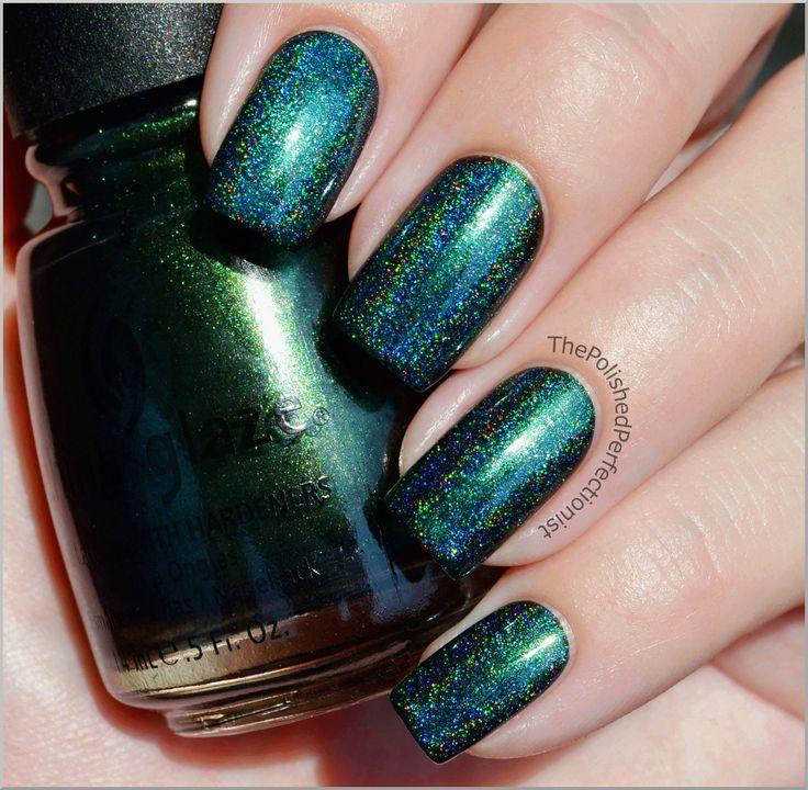 China Glaze Gussied Up Green + Speciallita HeraMakeup Nails Haaair
