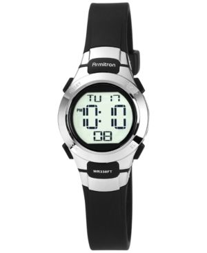 Armitron Women's Digital Black Strap Watch 27mm 45-7012BLK - Black