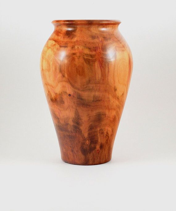 Wood Vase Hollow Form Turned from Plum by MorganWoodworking, $75.00