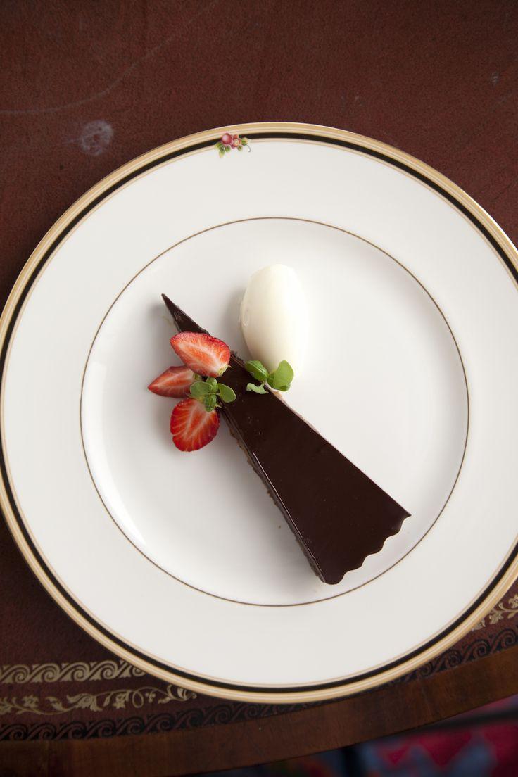 Dark Chocolate Torte, Wexford Strawberries, Vanilla Cream - Weddings & Events - Claire Hanley - The Honorable Society of King's Inns.
