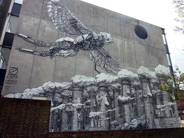 Liqen New Mural In Chichester, UK