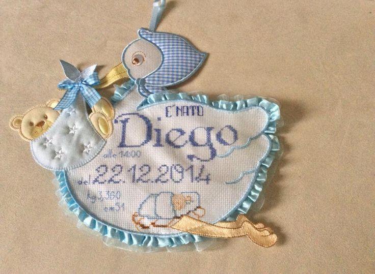 Cicogna punto croce  Diego