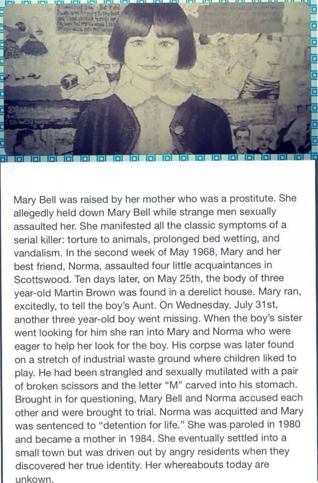 Mary bell                                                                                                                                                                                 More
