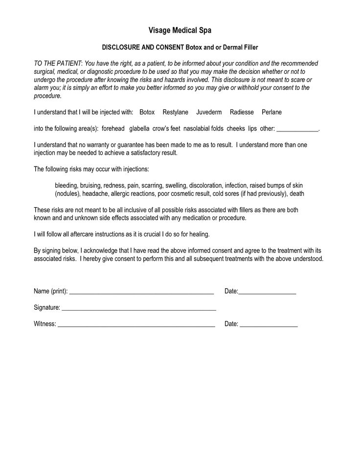 botox and filler consent  Salon in 2019  Consent forms
