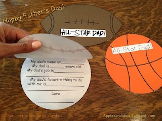 Sports Craft For Fathers Day Cute Questions All About Your Star