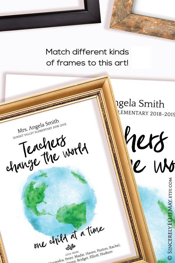 Teacher Retirement Gifts Personalized Teachers Change The World