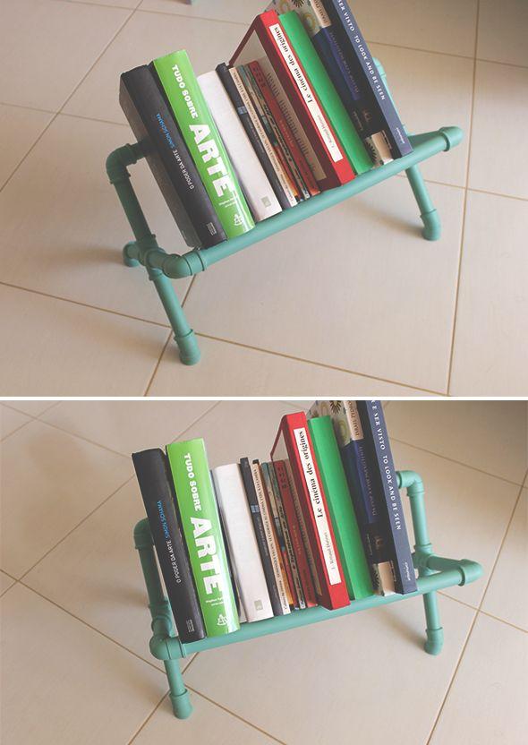 Como fazer um porta livro de cano de PVC - http://www.ateliecasademaria.com.br/