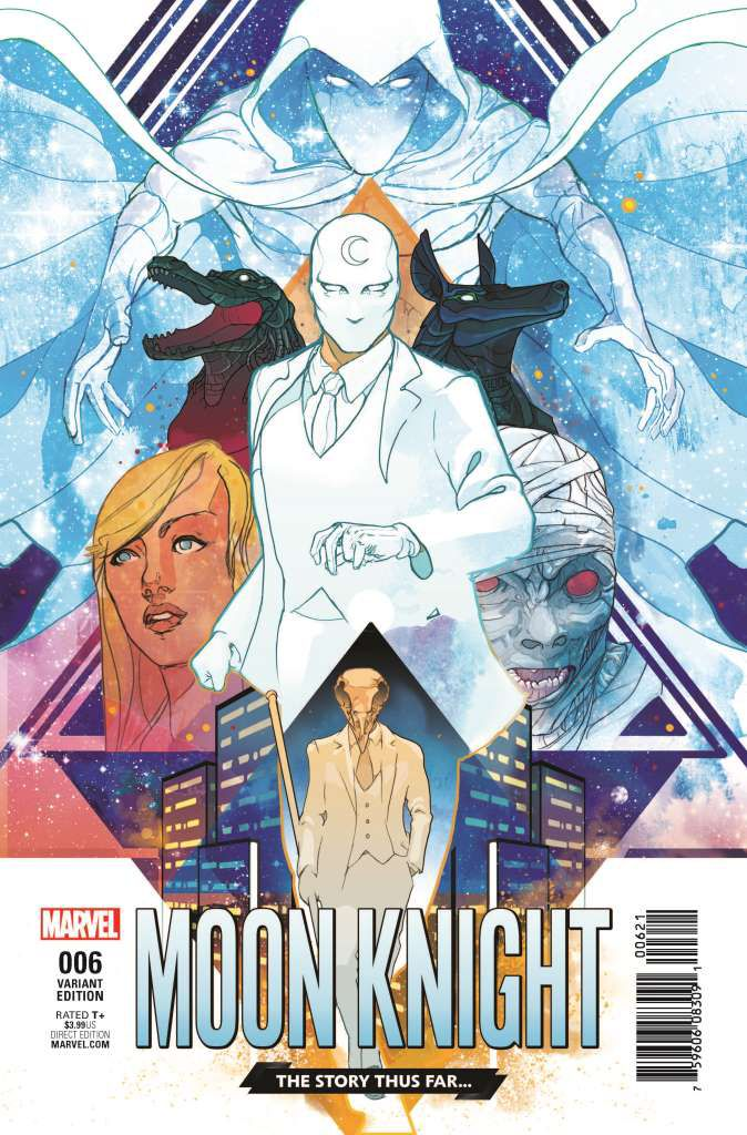 Moon Knight #6 (2016) Story Thus Far Variant Cover by Christian Ward