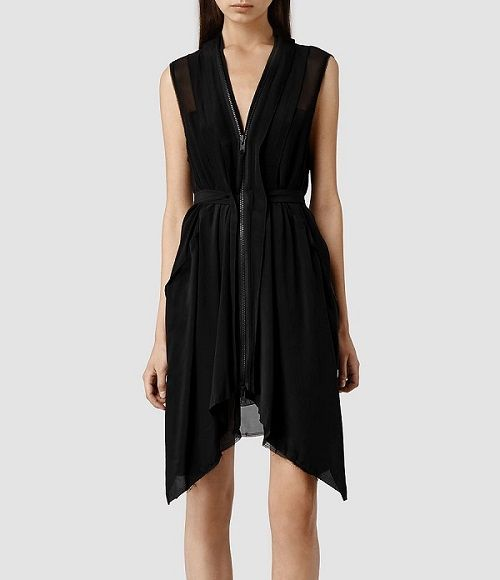 A rock'n'roll girl will appreciate this beauty from AllSaints - Levia ($325) has an interesting length and a visible zipper.