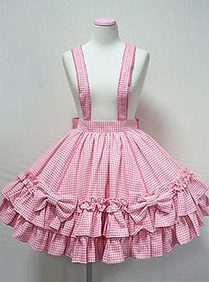 Angelic Pretty / Skirt / Going Out Skirt with Suspenders