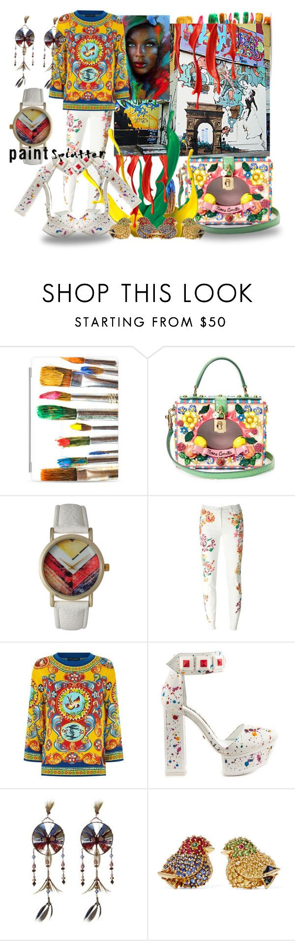 """""""It Was Supposed To Be Called """"Paint The Town Red"""" But It Took A Different Path Than What I Intended"""" by sharee64 ❤ liked on Polyvore featuring Casetify, Dolce&Gabbana, Olivia Pratt, Versace, Kat Maconie, Valentino, Fred Leighton and paintsplatter"""