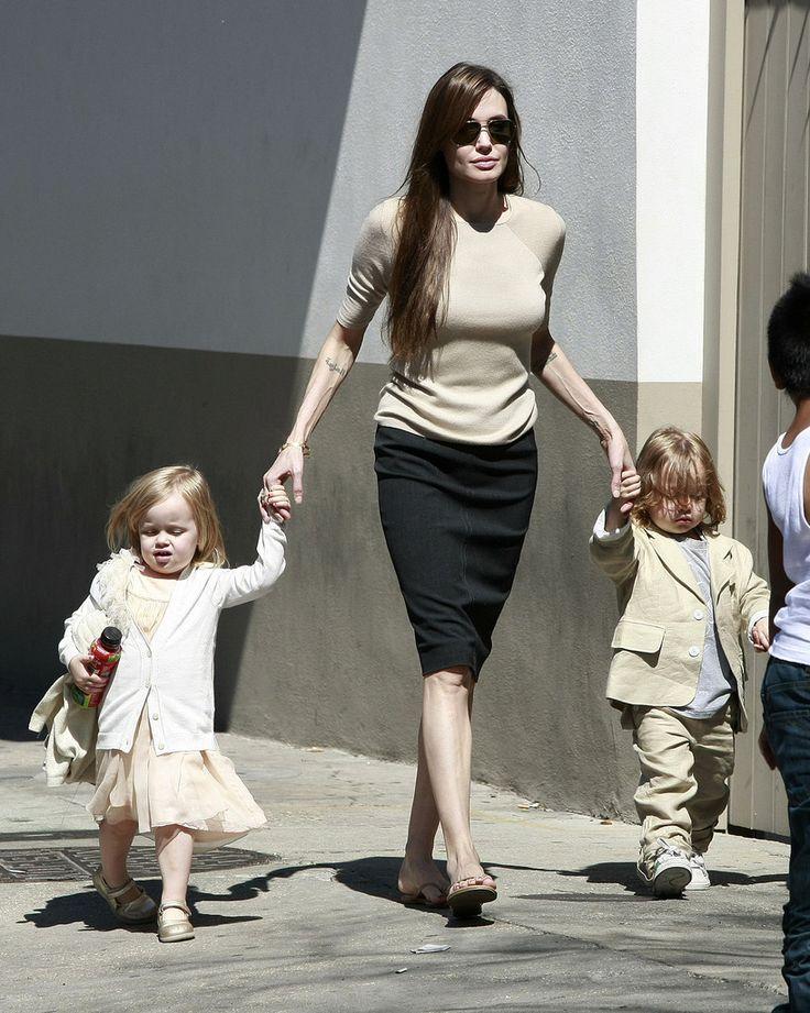 Brad Pitt Shiloh Jolie-Pitt Photos: Brad and Angelina Show Off the Kids in NOLA 4