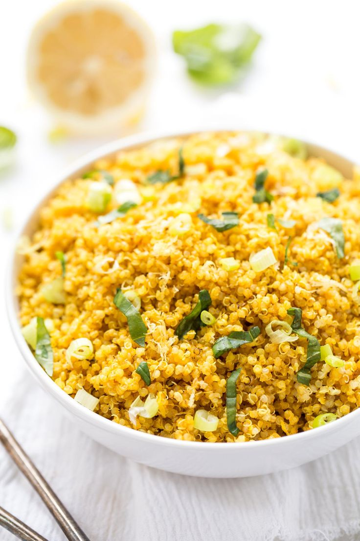 5ingredient Lemon Turmeric Quinoa