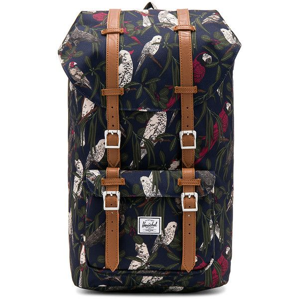 Herschel Supply Co. Little America Backpack ($100) ❤ liked on Polyvore featuring bags, backpacks, handbags, draw string bag, backpack laptop bag, padded laptop backpack, day pack backpack and drawstring flap backpack