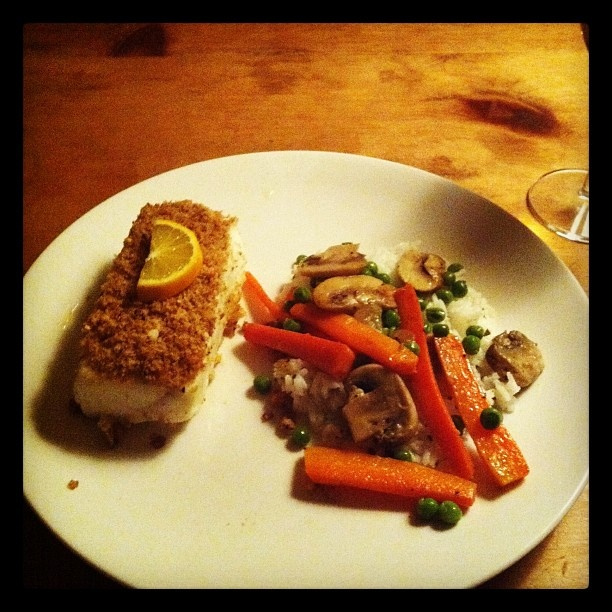 Almond crusted Halibut. Happy New Year everyone.. #MyHouse