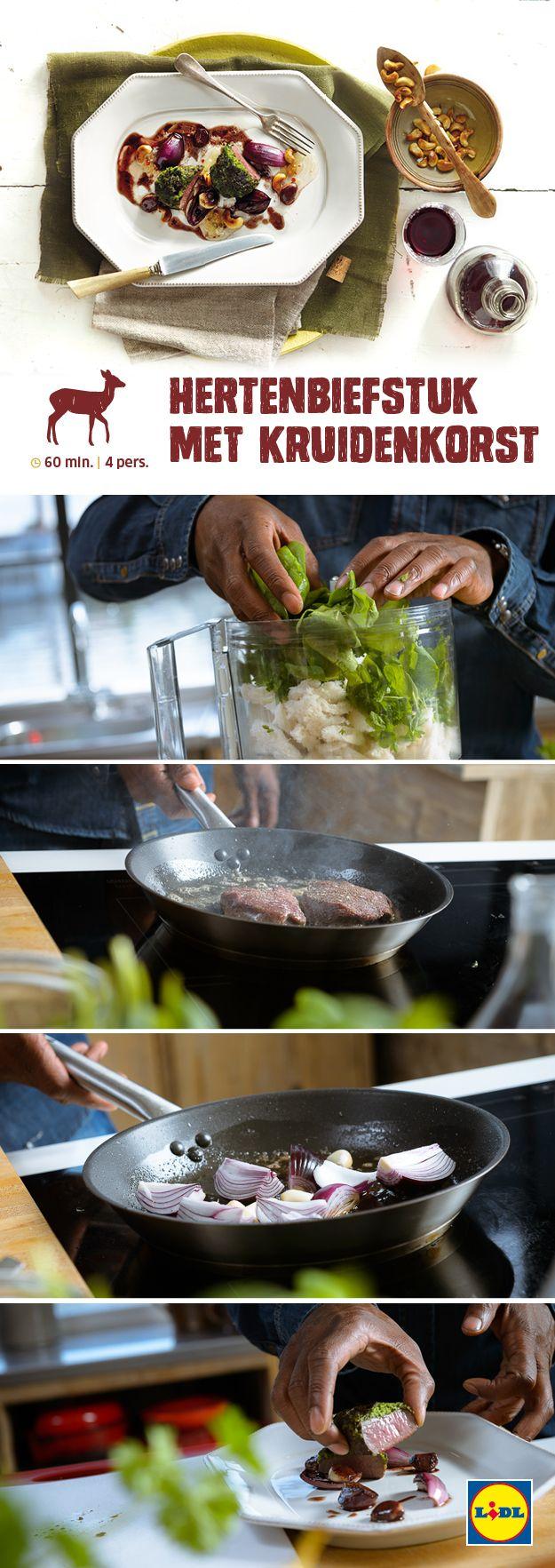 Deze hertenbiefstuk met een kruidenkorst is gemakkelijk zelf te bereiden! Meer Wild & Wijn recepten ontdekken? Kijk op www.lidl.nl #wildenwijn #wijn #Lidl