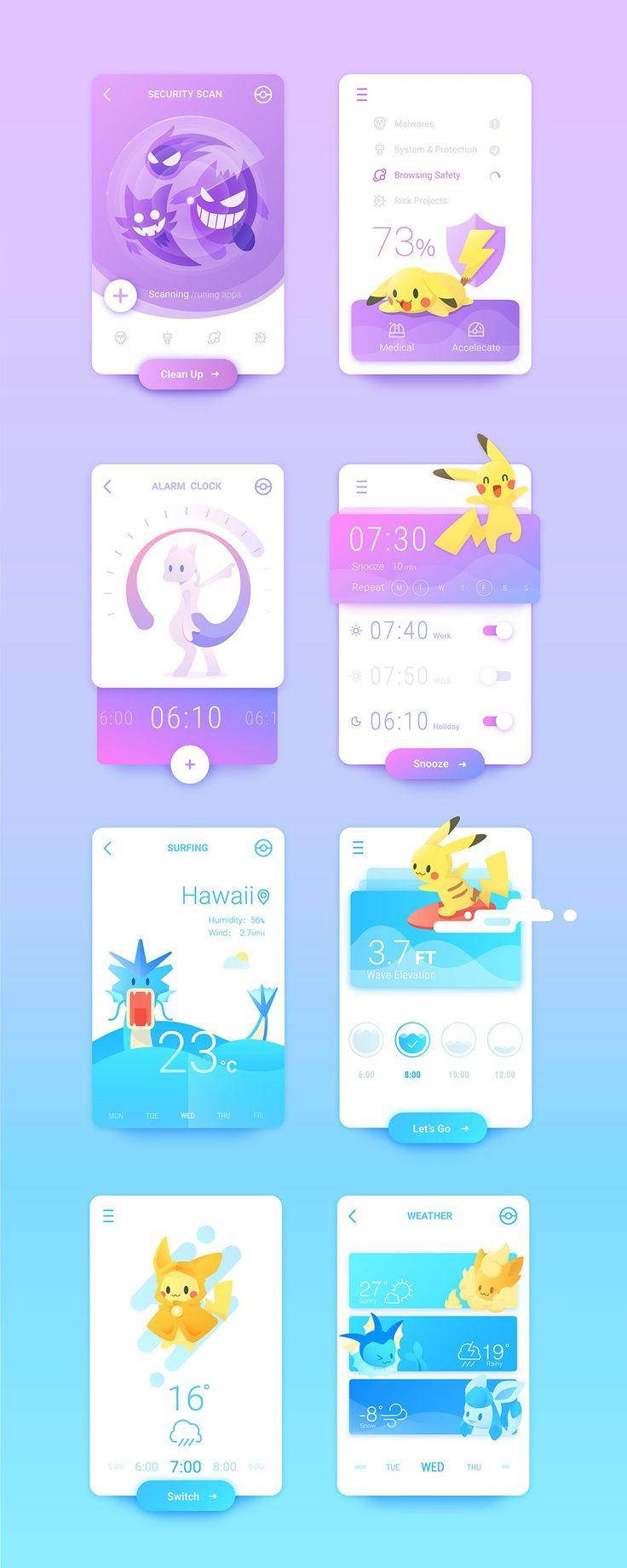Animated scroll of Pokemom #App #Design #UI