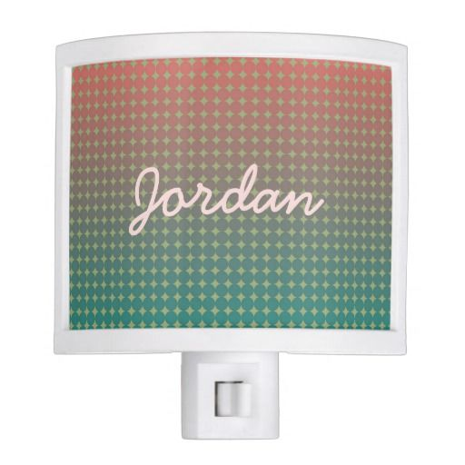 Beach Sunset Abstract Ombre Color Blend Coral Teal Night Light by Rosewood and Citrus on Zazzle