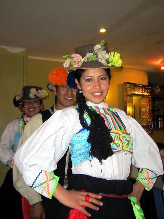 Dancers at the Balcones de Puno restaurant in Puno, Peru.