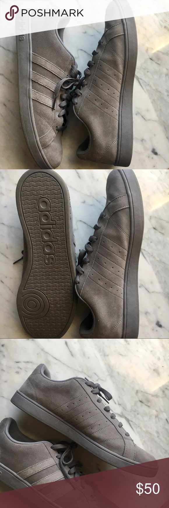 Gray Adidas Neo Sneakers Gently used Adidas sneakers. Ortholite padding on the inside. Worn maybe two or three times. Low cut and very comfortable. Comes without box. adidas Shoes Sneakers