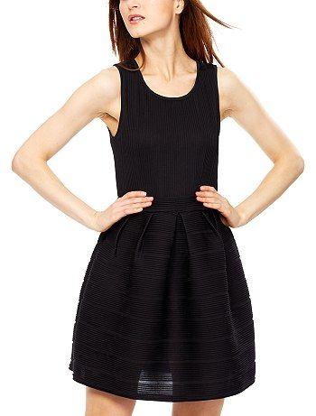 KIABI - Robe noire plissée 25e