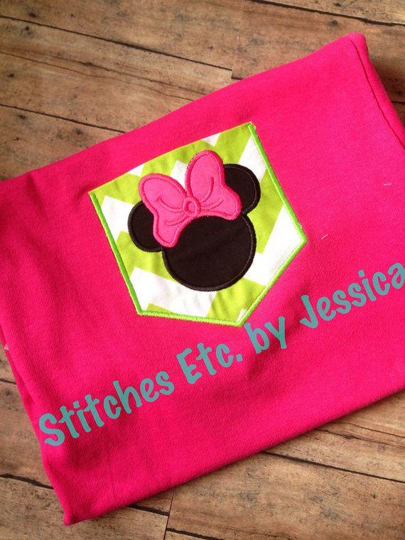 Minnie Head Pocket Tee by shopstitchesetc on Etsy, $15.00