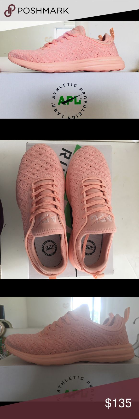 APL (Athletic Propulsion Labs) Techloom Phantom Like New APL sneakers in women size 6! Tropical peach color. Like new- worn only once to try on indoors. Super cute! In original box. APL Shoes Athletic Shoes