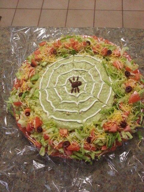 Haloween 7 layer taco dip | Halloween Snacks & Desserts | Pinterest