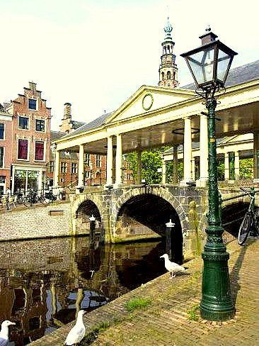 Leiden - De Koornbeursbrug. De brug stamt uit 1642