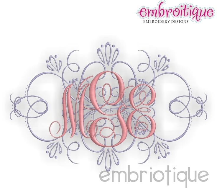 67 best Embroidery - Fonts images on Pinterest | Embroidery designs ...