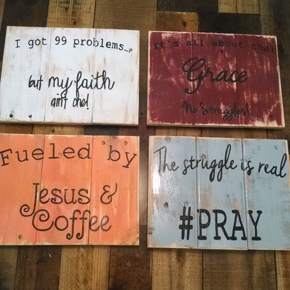 Fun And Sassy Christian Wall Decor Rustic By Edisonavenue